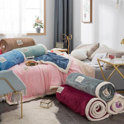 毛绒毯子 法兰绒毯 双层毛毯 保暖毯子 恩和家纺 200cmx230cm 远山灰