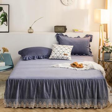 床裙 水晶绒床裙 保暖床罩 蕾丝花边床裙 恩和家纺 2019