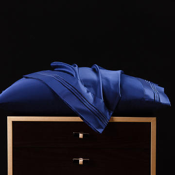 枕套 长绒棉枕套 60支贡缎枕套 绣花长绒棉枕头套2020新品