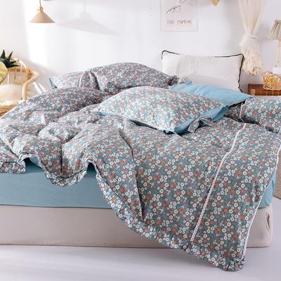 全棉被套 网红小碎花单被套 小清新被套 160x210cm 花样年华-蓝