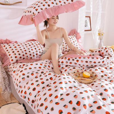2020 復古小碎花四件套 全棉四件套 恩和家紡 1.2m(4英尺)床 草莓
