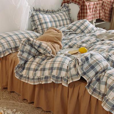 四件套 色织水洗棉四件套恩和家纺 1.5/1.8m(床单款)标准 奶茶格