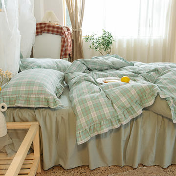 四件套 色织水洗棉四件套恩和家纺