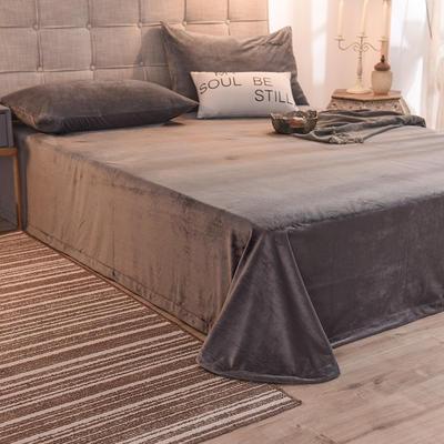 2020绒 床单 水晶绒床单 保暖绒床单 恩和家纺 100cmx230cm 烟灰