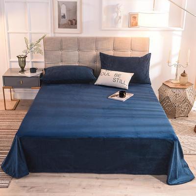 2020绒 床单 水晶绒床单 保暖绒床单 恩和家纺 140cmx230cm 宝蓝