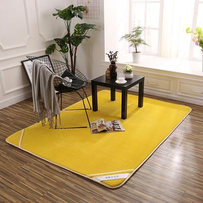 床垫 记忆棉床垫 地垫 脚垫恩和家纺 90*100(地垫) 回忆黄