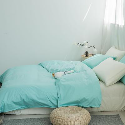 四件套 全棉混搭四件套 纯棉素色四件套 纯色混搭恩和 1.5/1.8床 标准 薄荷香草