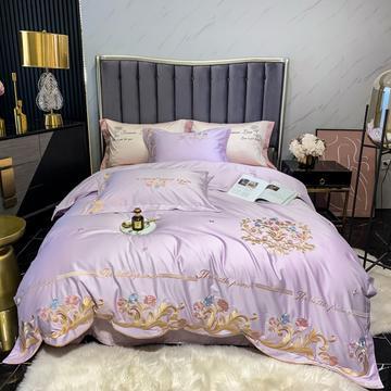 2021新款100s长绒棉刺绣款四件套(珍妮系列)