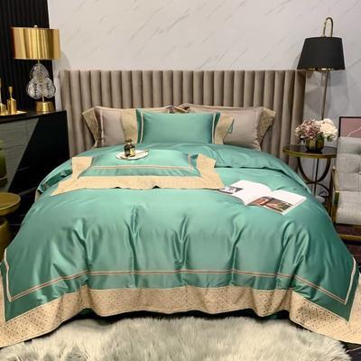 2021新款长绒棉四件套 凯撒 1.8床单款四件套 凯撒-绿