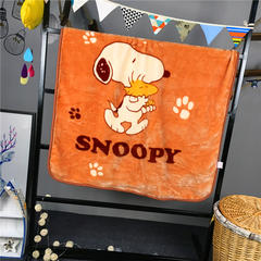 ADL潮品-巧然之家超柔加厚儿童双层云毯 Snoopy-咖