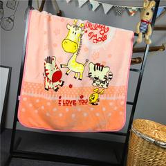 ADL潮品-巧然之家超柔加厚儿童双层云毯 小花猫-粉