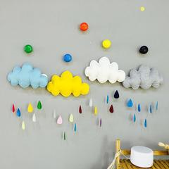 儿童帐篷配件家居装饰云朵雨滴不织布艺新年礼物挂件布置礼物用品 蓝色