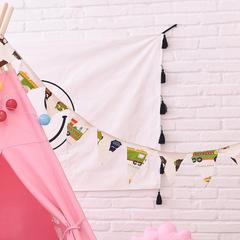 儿童帐篷配件家居装饰彩旗不织布艺新年礼物挂件布置礼物用品