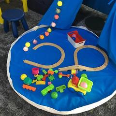 巧然之家简约大气儿童室内帐篷游戏屋印第安风格儿童摄影道具 直径140 蓝色