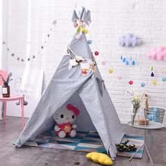 印第安儿童帐篷室内游戏屋宝宝玩具屋小孩子娃娃读书角女孩公主房 布鲁斯蓝-水洗棉帐篷
