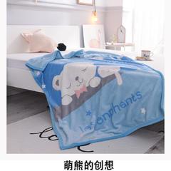 云毯童毯加厚儿童双层绒毯 100*140cm 1.0m(3.3英尺)床 萌熊的创想