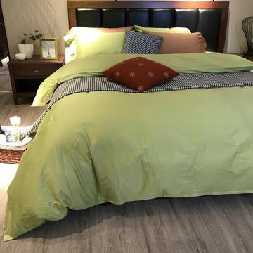 60长绒棉纯色四件套三件套 1.2米 1.5米 2.0米床用全尺寸