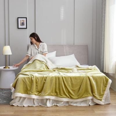 2020新款羊羔绒毛毯被套 150x200cm(单人用) 宫廷黄
