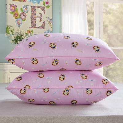 兴煌枕芯  精品印花特价真空枕 开心猴  粉红