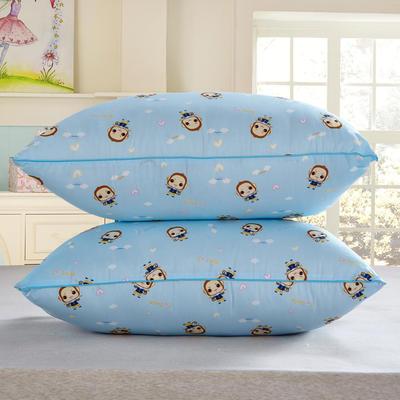 兴煌枕芯  精品印花特价真空枕 开心猴  蓝色