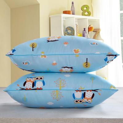 兴煌枕芯  精品印花特价真空枕 天生一对  蓝色