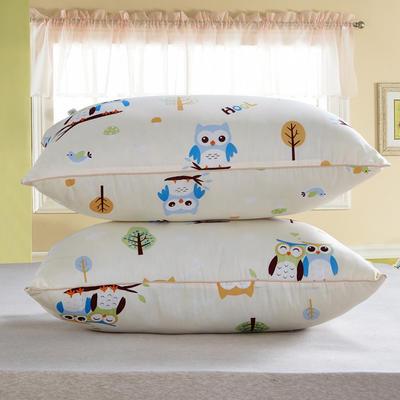 兴煌枕芯  精品印花特价真空枕 天生一对  米色