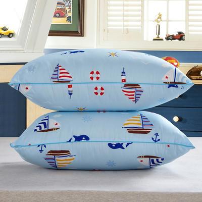 兴煌枕芯  精品印花特价真空枕 一帆风顺  蓝色