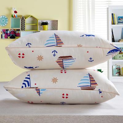 兴煌枕芯  精品印花特价真空枕 一帆风顺  米色