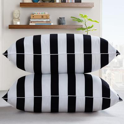 兴煌枕芯   精品印花真空枕新品 黑白配