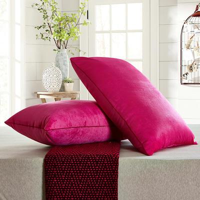 兴煌枕芯   水晶绒 舒适枕青春版 玫红