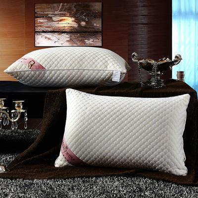针织棉按摩护颈枕芯 水立方经济款