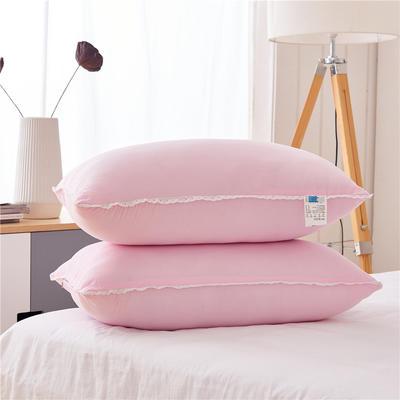 彩色水洗棉低枕(48*74) 粉红