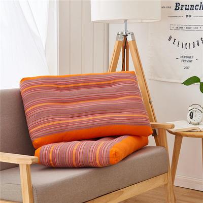 全棉老粗布护颈枕(48*74) 橘黄