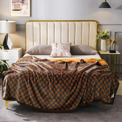 2020新款双层云毯金貂绒毛毯毯子 200*230cm 洛特