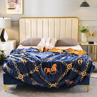 2020新款双层云毯金貂绒毛毯毯子 200*230cm 柏林