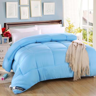 磨毛压花冬被 200*230cm  5斤 蓝色