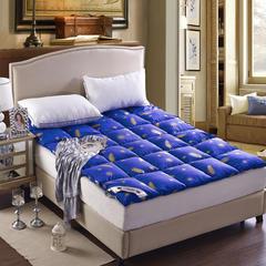 七彩羽绒床垫羽绒床垫 1.0m(3.3英尺)床 蓝色