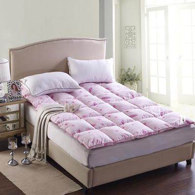 七彩羽绒床垫羽绒床垫 1.0m(3.3英尺)床 粉色