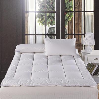 全棉羽绒床垫 1.0m(3.3英尺)床 白色