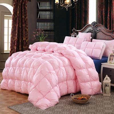 臻品纽花羽绒冬被 150x200cm 粉红色