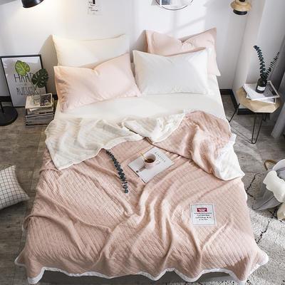全棉针织棉夏被 150x200cm  1.4斤 豆沙红