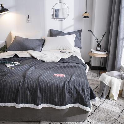 全棉针织棉夏被 150x200cm  1.4斤 幻夜黑