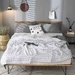 色织水洗多件套 150x200cm  单被 1.6斤 白色