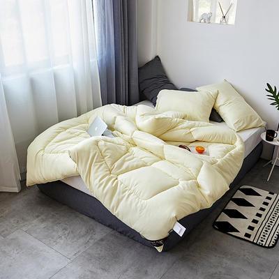 全棉纯色冬被 150x200cm 5斤 琥珀米