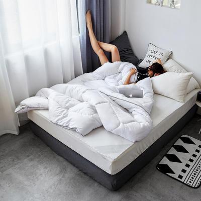 全棉纯色冬被 150x200cm 5斤 简单白