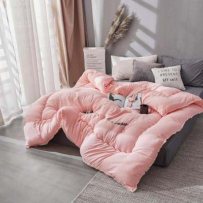 流苏冬被 150x200cm  4斤 粉色
