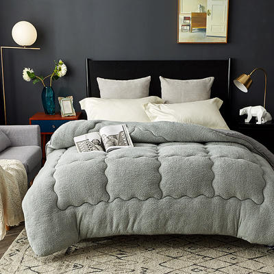 保暖羊羔绒 110x150cm 灰色