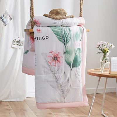 芯动水洗棉夏被 150x200cm  1.8斤 爱情鸟