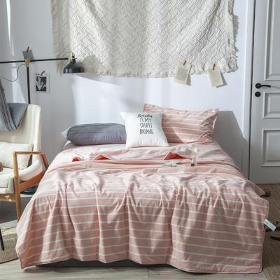 全棉色织夏被 150x200cm  2.3斤 玉白条纹