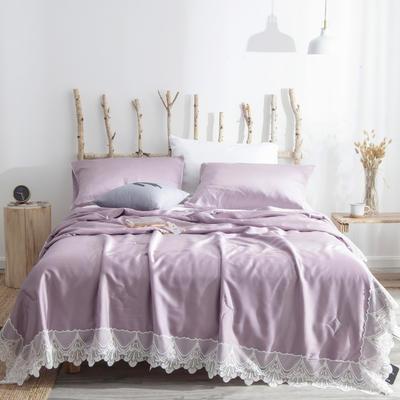 雀翎天丝夏被 200X230cm  3.5斤 紫色